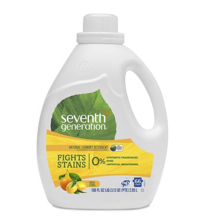 Гель  для стирки свежий цитрусовый бриз 2-х кратной концентрации 1,47 литра (33 стирки), Seventh Generation