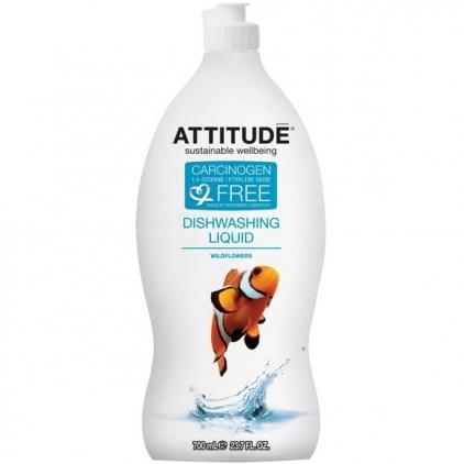 Средство для мытья посуды Дикие цветы Attitude, 700ml